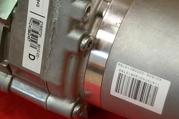 étiquetage de produits moteur