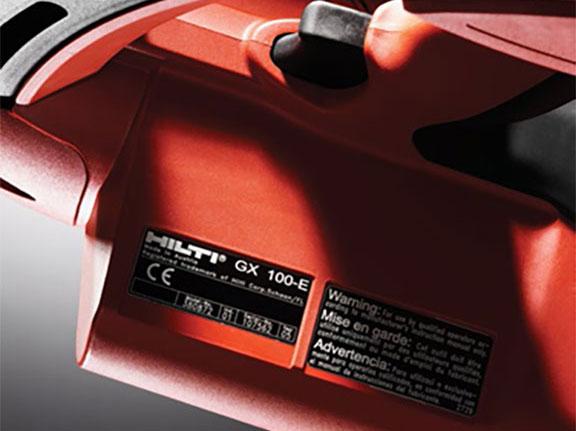 étiquette adhésive équipement