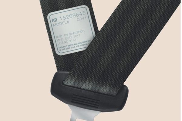 étiquette ceinture de sécurité