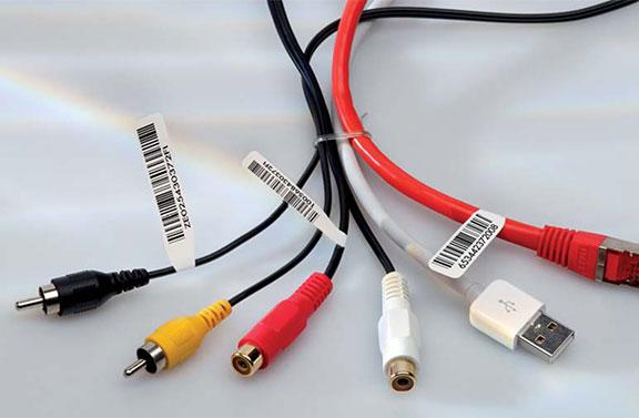 étiquette de câble drapeau