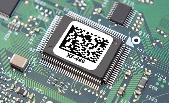 étiquette électronique composant