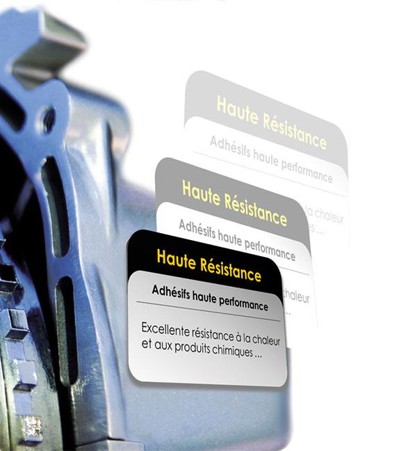 étiquette équipement haute résistance