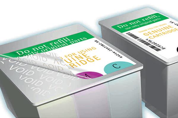 étiquette inviolable système VOID flexsecure