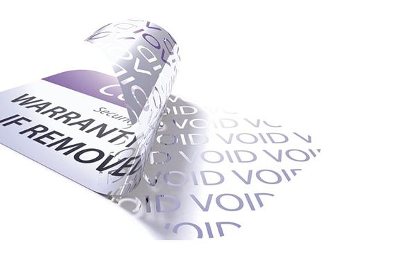 étiquette inviolable système VOID