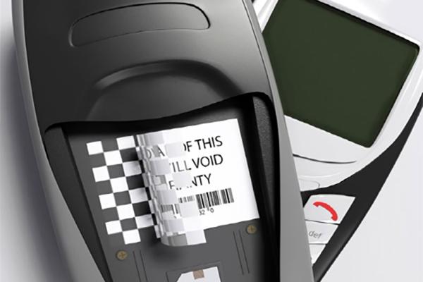 étiquette inviolable système damier