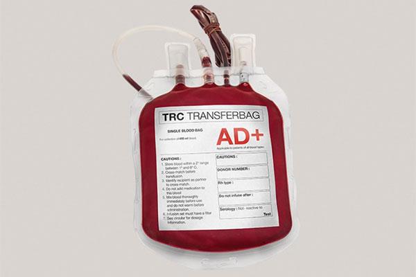 étiquette pharmacie poche de sang