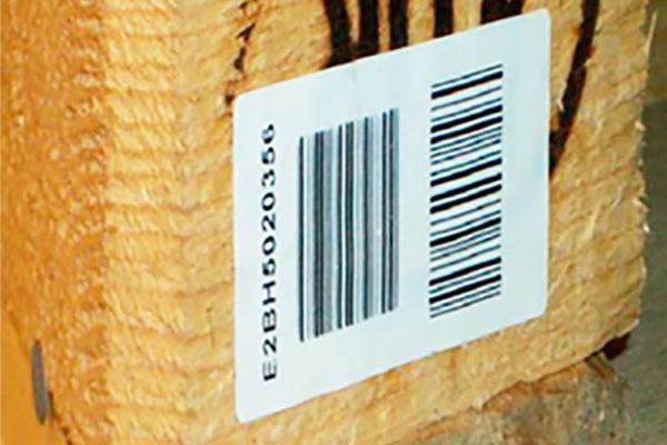 étiquette thermocollante palette
