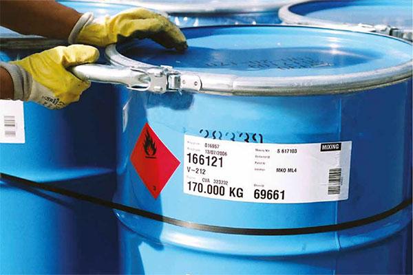 étiquette traçabilité chimie
