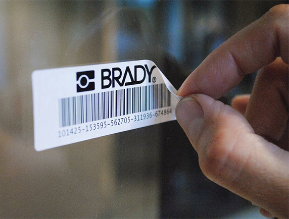 étiquette standard Brady